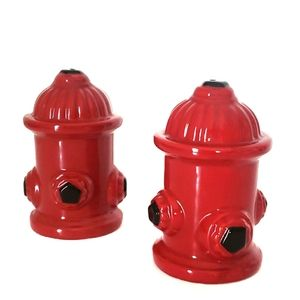 Fire Hydrant Salt and Pepper Shakers